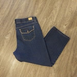 Bandolino Cropped Jeans Comfort Stretch Waistband